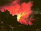 de Loutherbourg painting of Ironbridge furnaces, Bedlam