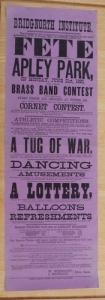 Clive Gwilt 10 - Apley poster Fete, Mon 21 June 1890