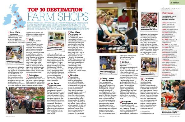 2014-06-30, BBC Good Food Guide, Top 10 Destination Farm Shops, p46-47