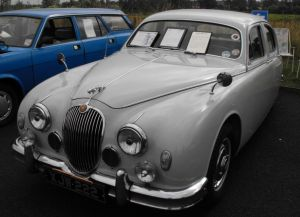 2014-07-20, Icecream Sundae, Classic Car Funday (18) - grey jaguar joint winner