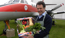 Cosford Food Festival - GGH with box of fruit & veg
