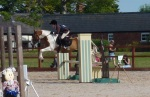 Jumping, 2014-07-26, Sybilla on Scout, Pre Novice Area, Netley (4)