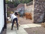 2014-08-23, AEHC Teak oiling garden furniture