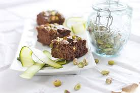 Chocolate courgette brownies recipe image