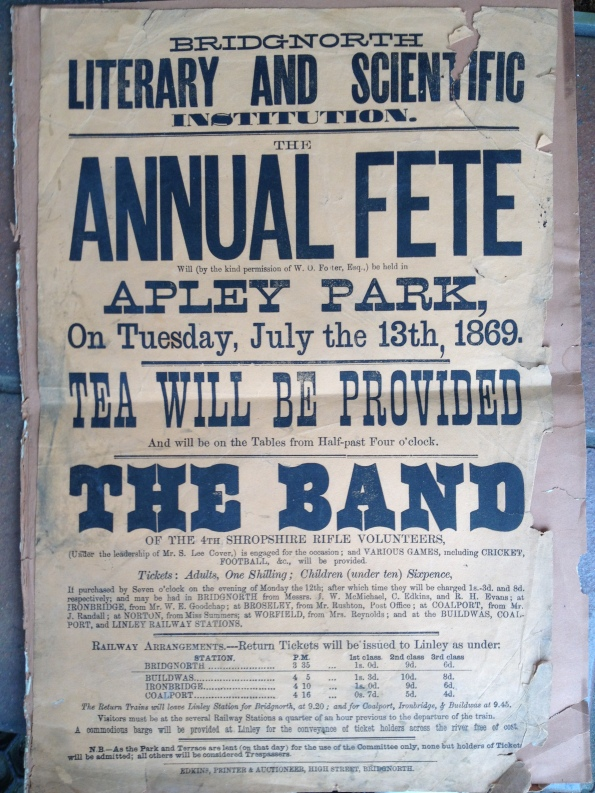 2014-09-06, Annual Fete, 13 July 1869, Apley Park