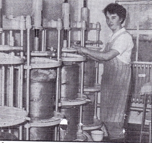 Rosemary White & cheese moulds Sept 1956