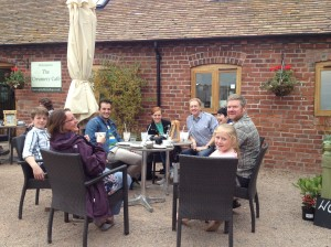 2014-09-27, Apley Taste Off, film crew & Harrison family