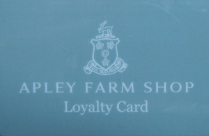 1 Oct 2013, Loyalty card image