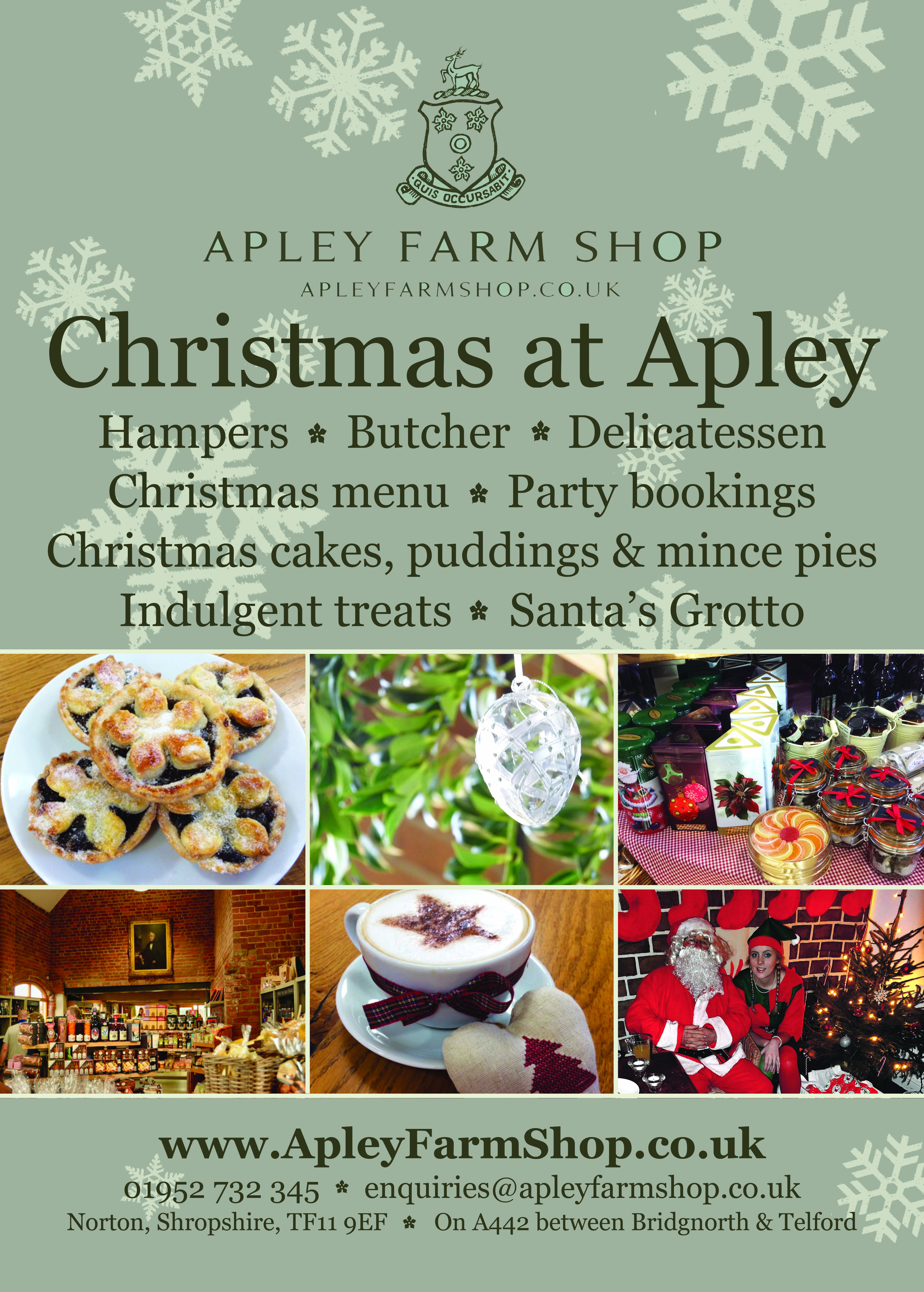 Open For Christmas Orders.Christmas Orders Open At Apley Farm Shop Lady Harriet Hamilton