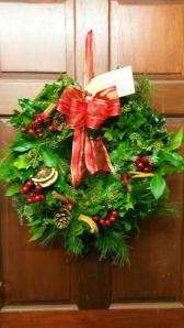 2014-11-17, Helen Raymond Christmas wreath