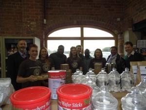 Taste of Tanzania coffee - the Bridgnorth Endowed School team