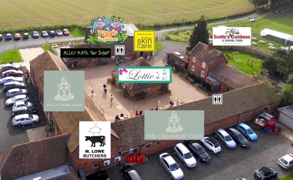 Site map of Apley Farm Shop