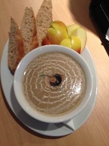 2015-01-10, AFS Cafe - Mushroom & tarragon soup