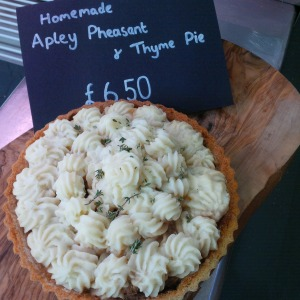 Apley pheasant & thyme pie, handmade