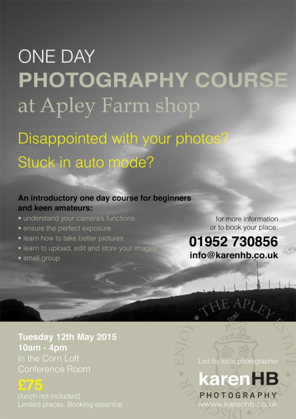 Karen HB's Photography course at Apley