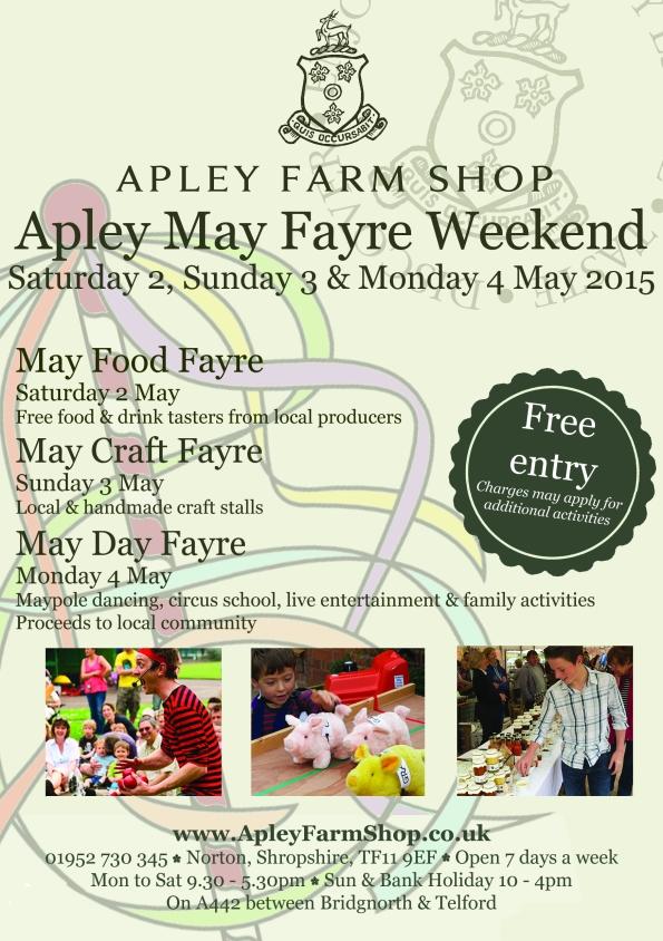 2015-03-25, May Fayre Weekend leaflet