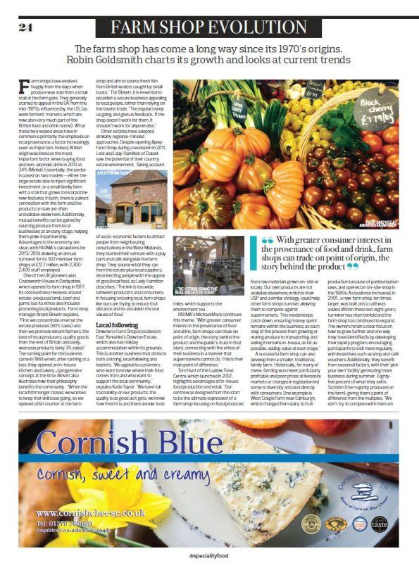 Farm Shop Evolution, Specialty Food magazine, March 2015, page 24