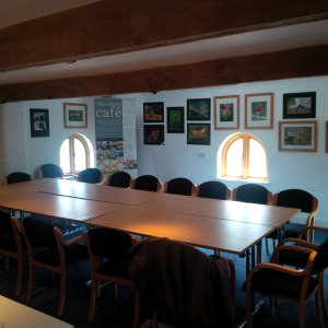 2015-04-01, Conference Room with Photography Competition photos hung