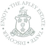 Apley Estate - Taste, Discover, Enjoy - in a circle - white background - cropped, close up