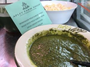 2015-01-05, Apley Estate wild garlic pesto
