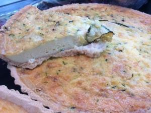 2015-04-22, Deli counter courgette & cheddar quiche