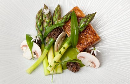 Asparagus & wild garlic veloute