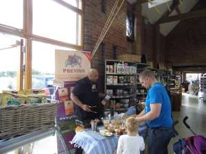 Enjoy free tasters from Previns in Apley Farm Shop