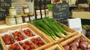 2015-06-27, AFS's Shrewsbury Food Festival stand - veg stand