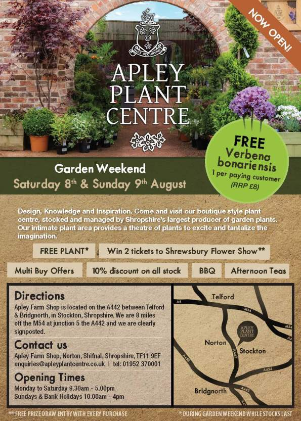 2015-07-23, Apley Plant Centre launch 8-9 Aug - apley ad 128 x 92 no bleed_Page_1