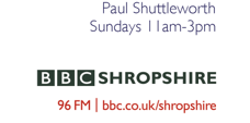 Paul Shuttleworth, BBC Radio Shropshire, logo