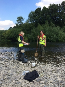 Testing water quality on River Severn