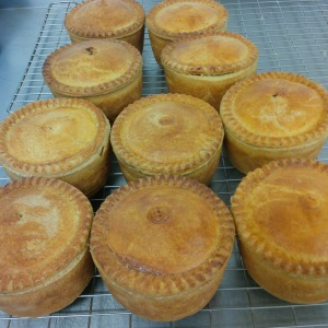 Apley steak pies by butcher John & chef Martin