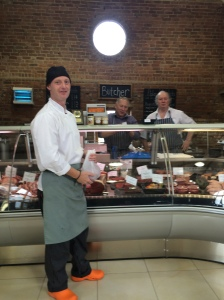 2015-07-22, Apley chef shopping at Apley butchers