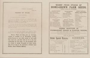 Webb seed catalogue 1882, KHB 1