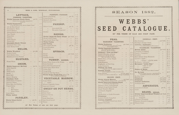 Webb seed catalogue 1882, KHB 4