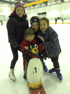 Francis's first ever ice skating lesson, back in 2012, aged 3
