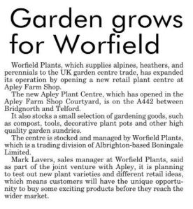2015-10-14, Apley Plant Centre, Shropshire Star