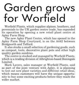 2015-10-14, Apley Plant Centre, Shropshire Star