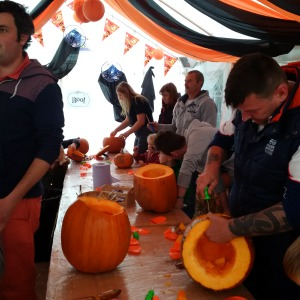 In the Carving Cavern on day 1 of the Spookley Pumpkin Festival