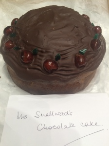 Mrs Smallwood's  chocolate cake from Tom Gray