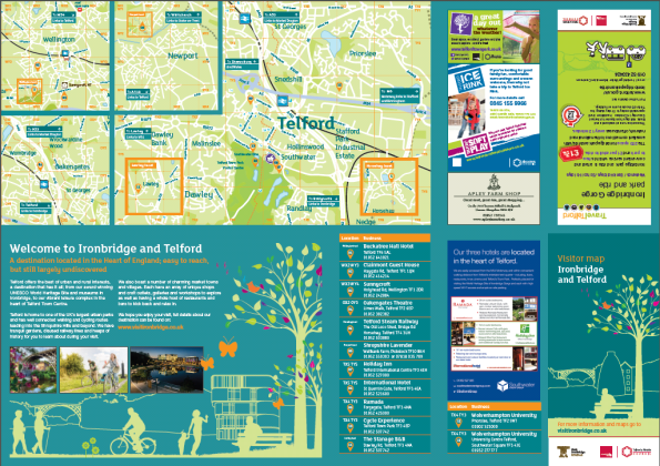 T&W tourist map with AFS advert
