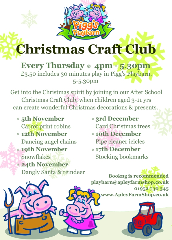 2015-08-11, Christmas Craft Club poster