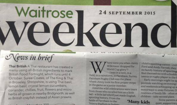 Waitrose Magazine, 24 Sept 2015