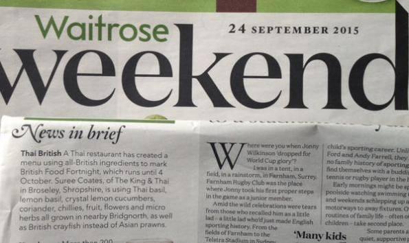 Waitrose Magazine, 24 Sept 2015