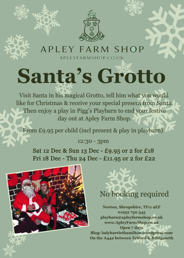 2015-10-14, Santa's Grotto 2015 leaflet