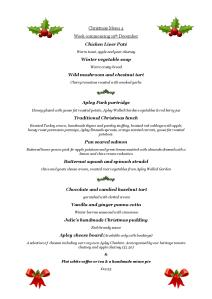 2015-11-10 Christmas Lunch Menu 4 holly, wc 19 Dec