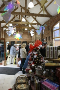 Apley Farm Shop decked with Christmas angels & stars (photo by Steve Watts)