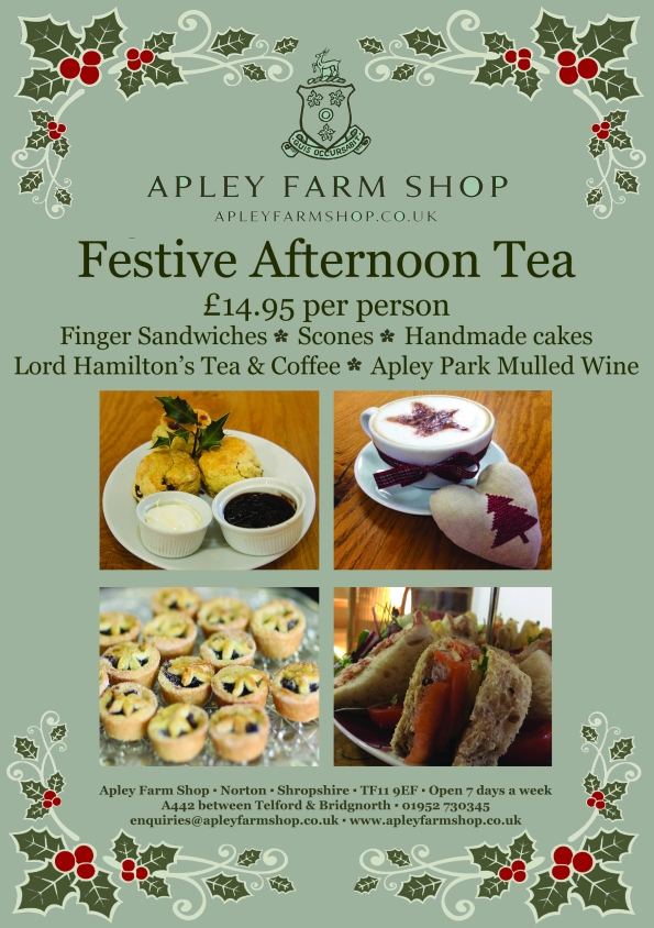 2015-12-01, Festive afternoon Tea flier