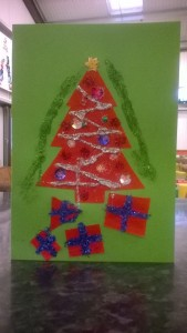 Christmas card crafts in our drop-in, After School Club, Thursdays 4-5:30pm