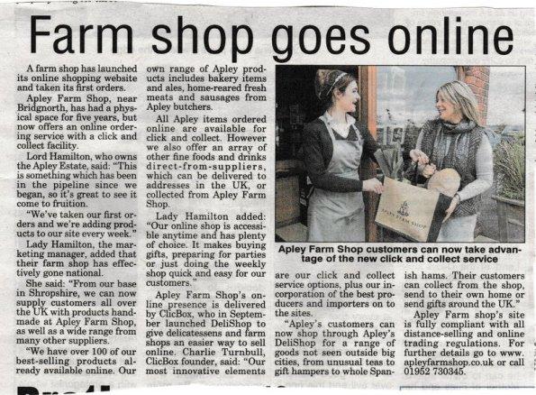 2015-12-10, Farm shop goes online